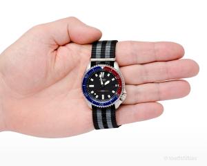 Seiko 7002 Watch, with a Pepsi bezel insert.
